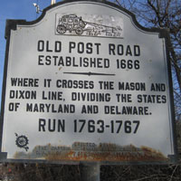 Elkton Mason Dixon Line Old Post Road