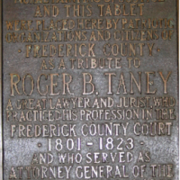 Frederick Roger Taney Courthouse Plaque