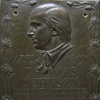 Frederick Thomas Johnson CH plaque