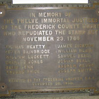 Frederick Twelve Immortal Justices CH plaque